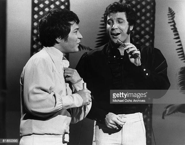 Welsh singer Tom Jones and Hawaiian singer Don Ho perform on the 19691971 television variety show 'This Is Tom Jones' that aired on ABCTV on January...