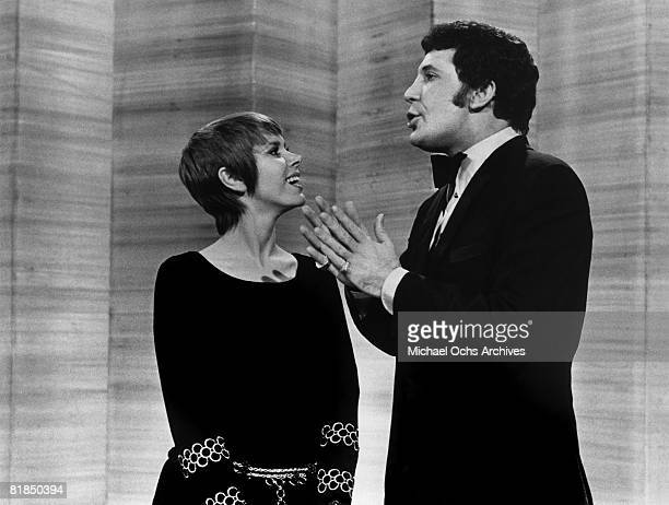Welsh singer Tom Jones and Judy Carne perform on the 19691971 television variety show This Is Tom Jones that aired on ABCTV on April 4 1969 in Los...