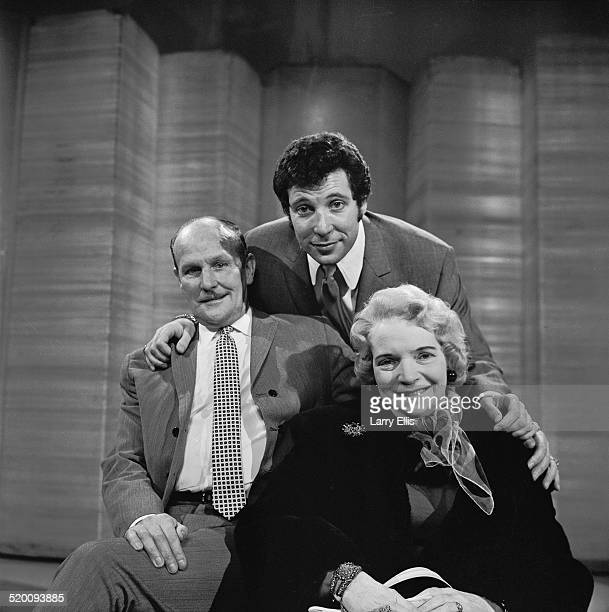 Welsh singer Tom Jones gives his parents Thomas and Freda Woodward a tour of Elstree Studios Hertfordshire 8th February 1969