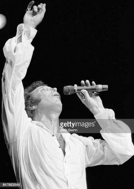 Welsh singer Tom Jones performing at the Grand Ole Opry on September 5 1985 in Nashville Tennessee