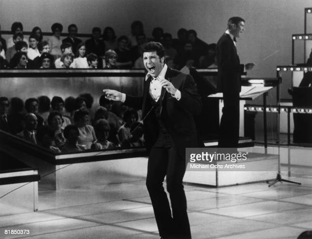 Welsh singer Tom Jones performs on the 19691971 television variety show This Is Tom Jones circa 1970 in Los Angeles California