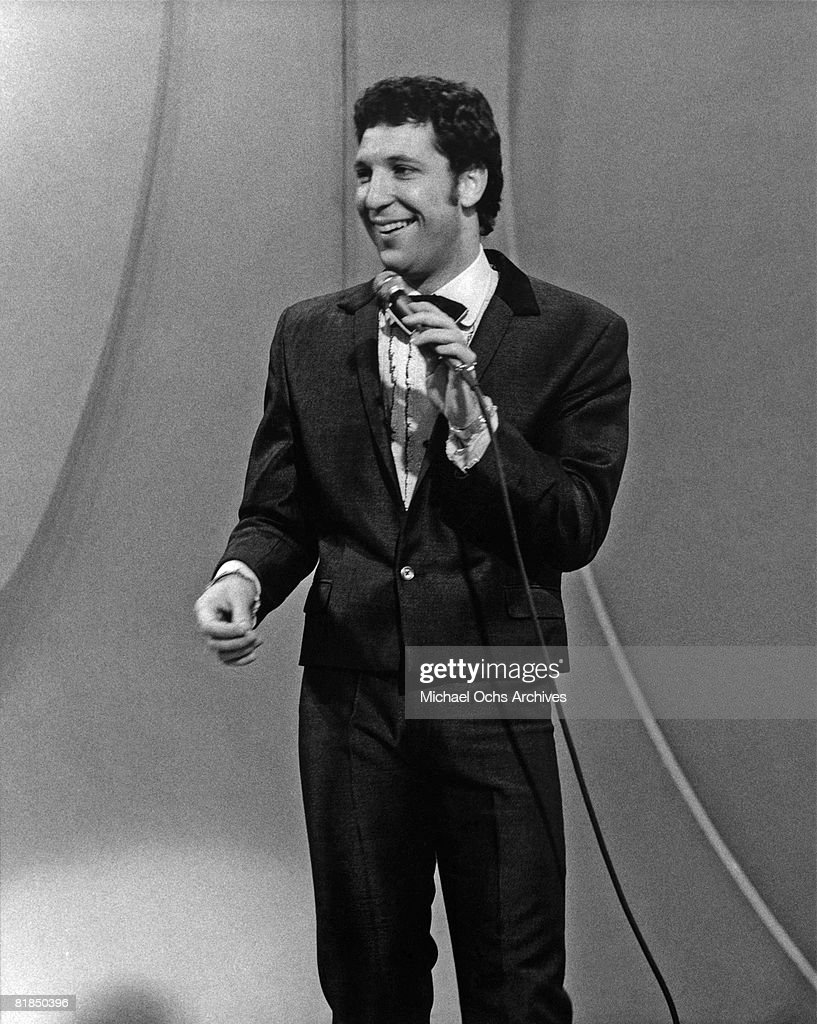 Welsh singer Tom Jones performs on the 1969-1971 television variety show 'This Is Tom Jones' circa 1970 in Los Angeles, California.