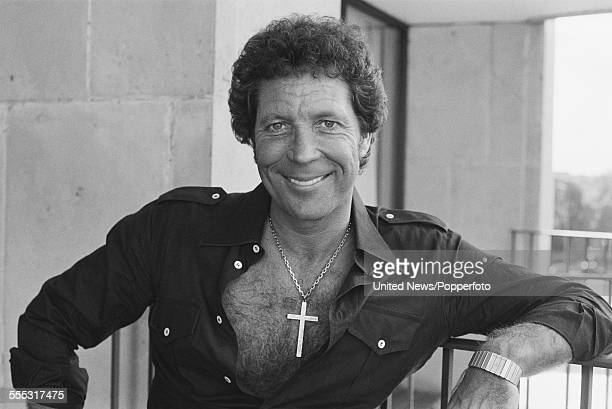 Welsh singer Tom Jones pictured on the balcony of a hotel in London on 6th September 1983