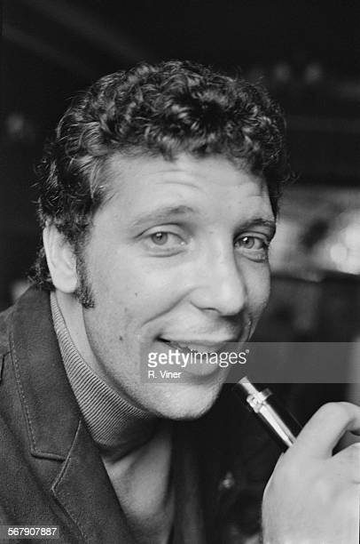 Welsh singer Tom Jones shortly after his operation to remove a lump from his nose 1967