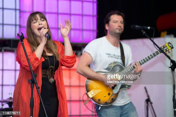 Welsh singersongwriter Charlotte Church performs at the Depot in Cardiff with husband Johnny Powell on May 2 2019 in Cardiff United Kingdom