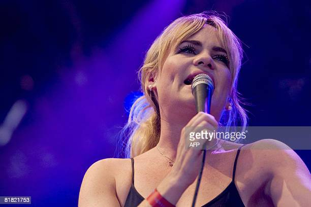 Welsh singersongwriter Duffy performs at the Arena Scene on June 3 2008 at the Roskilde Festival AFP PHOTO/ SCANPIX/ SISSE STROYER