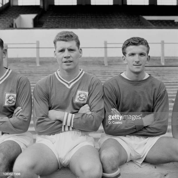 Welsh soccer players Dilwyn John and Colin Baker of Cardiff City FC, UK, 22nd August 1963.