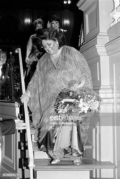 Welsh soprano Margareth Price performs on November 30th 1991 at the Concertgebouw in Amsterdam, the Netherlands.