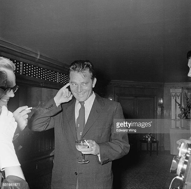 Welsh stage and cinema actor Richard Burton attends a reception at the Dorchester Hotel for his latest film 'Look Back in Anger' London August 1958