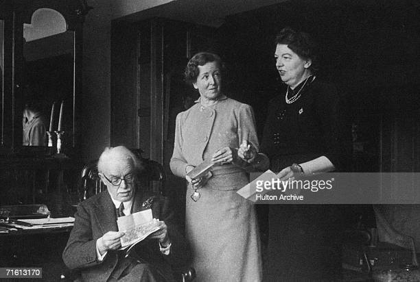 Welsh statesman and former Prime Minister David Lloyd George spends his 80th birthday at home in Churt Surrey with his second wife Frances and his...