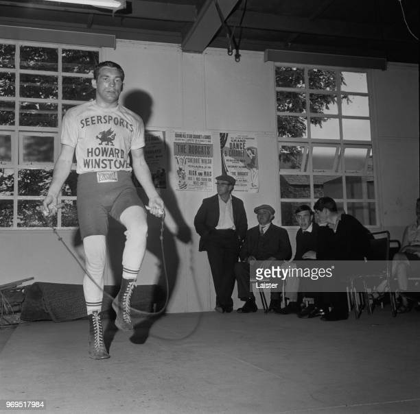 Welsh world champion boxer Howard Winstone skipping a rope during training in a gym UK 15th June 1967