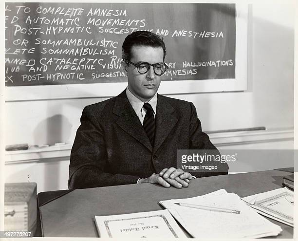 Welshborn actor Ray Milland as psychology professor Professor Gilbert Sedley in the film 'The Trouble with Women' 1947