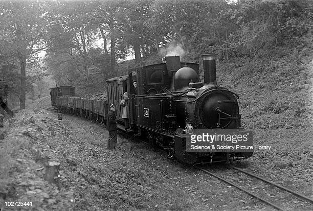 Welshpool and Llanfair Railway, locomotive no. 822. Cyfronydd Heniarth, England. Goods train, Welshpool and Llanfair Railway, locomotive no. 822....