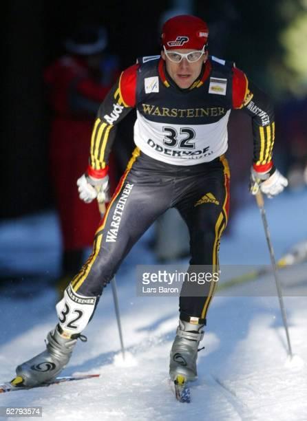 Weltcup 03/04, Oberhof; Skilanglauf; Sebastian HASENEY/GER kaempfte sich vom 32. Auf den 13. Platz vor