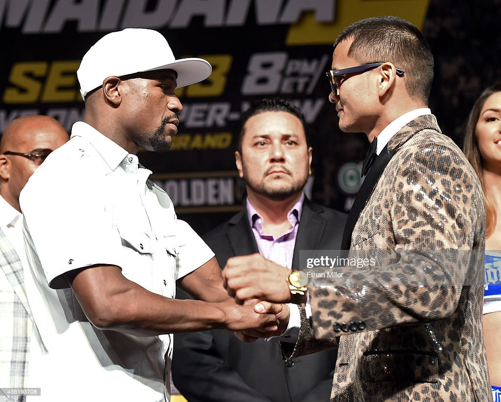 Floyd Mayweather Jr. v Marcos Maidana - News Conference Photos and ...