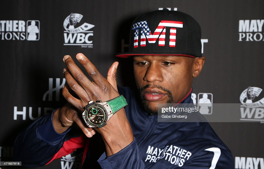 HUBLOT And Floyd Mayweather Jr.: The Perfect Combination For The Fight Of The Century : News Photo