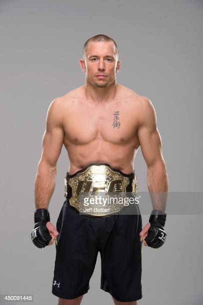 Welterweight Champion Georges StPierre poses for a portrait on November 13 2013 in Las Vegas Nevada