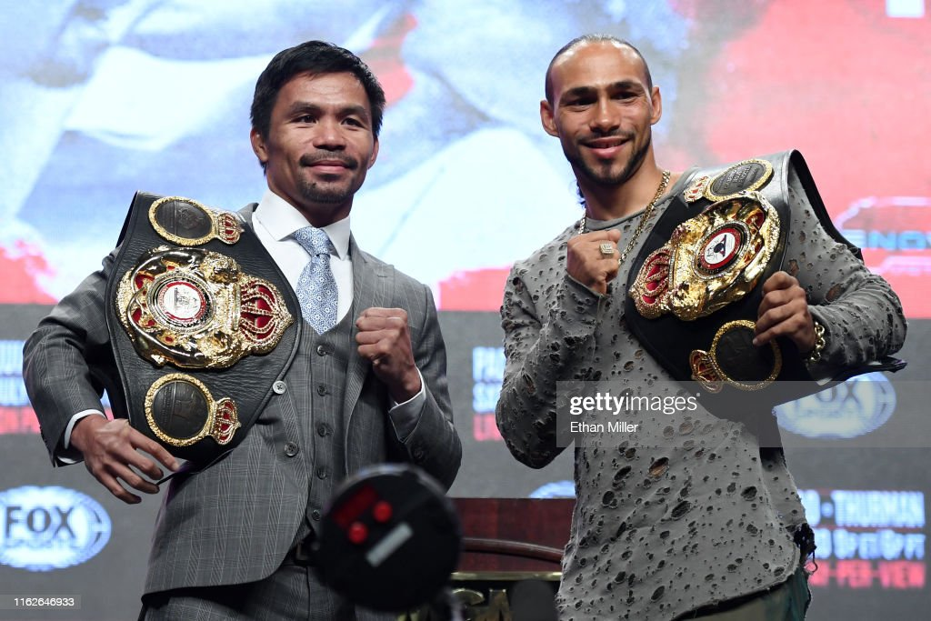 Manny Pacquiao v Keith Thurman - News Conference : ニュース写真