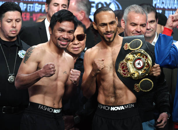 NV: Manny Pacquiao v Keith Thurman - Weigh-in