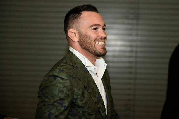 Welterweight Colby Covington arrives backstage during the UFC 261 event at VyStar Veterans Memorial Arena on April 24, 2021 in Jacksonville, Florida.