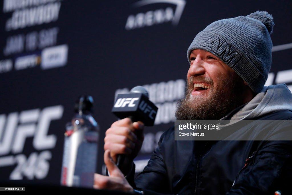 UFC 246 McGregor v Cowboy: Ultimate Media Day : News Photo