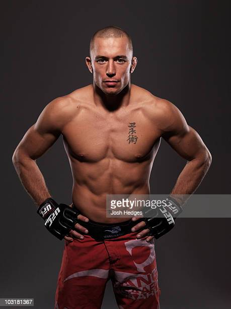 Welterweight Fighter Georges StPierre poses during a portrait shoot on April 17 2008 in Montreal Quebec Canada