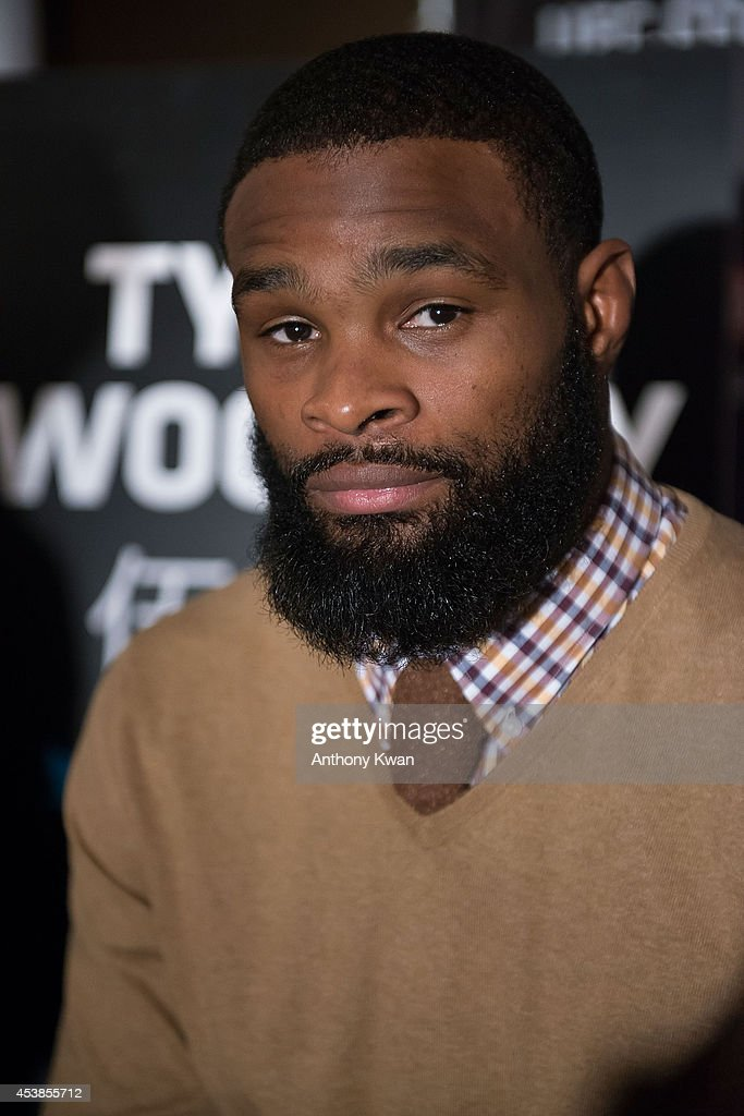 UFC welterweight fighter Tyron Woodley at the Macao UFC Fight Night Press Conference at the Four Season Hotel on August 20, 2014 in Hong Kong.