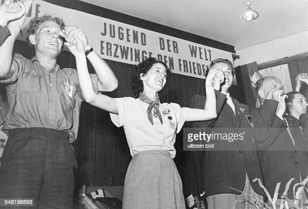 3 Weltjugendfestspiele / Weltfestspiele der Jugend und Studenten in Berlin / DDR vom 0508 Freundschaftstreffen Deutschland Frankreich Belgien Holland...