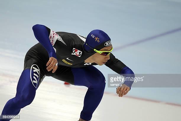 Weltmeister 500 Meter Lee Kyou Hyuk KOR Eischnelllauf WM Einzelstrecken 2011 in Inzell speed skating world championship 2011