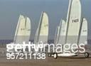 Weltmeisterschaft der Strandsegler in St PeterOrding In fünf unterschiedlichen Klassen wird vom 19 bis 24Sept1993 die internationale Regatta gefahren