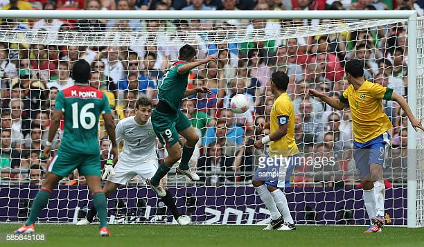 Wembley Stadion Olympic Summer Games 2012 London : football men gold medal match Brazil - Mexico