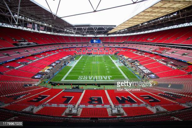 Wembley Stadium before the NFL game between the Houston Texans and the Jacksonville Jaguars on November 03 2019 at Wembley Stadium London England