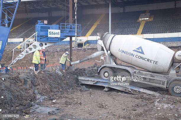 Wembley Stadium Demolition Wembley United Kingdom Architect John Simpson / Maxwell Ayrton / Owen Williams Wembley Stadium Demolition Concrete Mixer