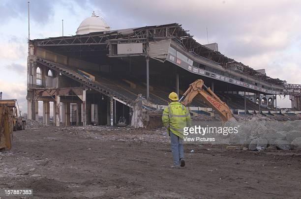 Wembley Stadium Demolition Wembley United Kingdom Architect John Simpson / Maxwell Ayrton / Owen Williams Wembley Stadium Demolition Pitch View