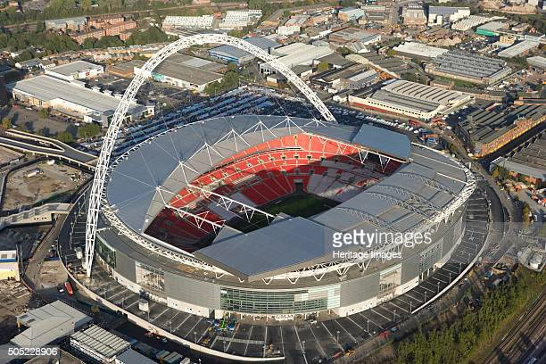 Wembley Stadium, London, 2006. Aerial view. Artist: Historic England Staff Photographer.