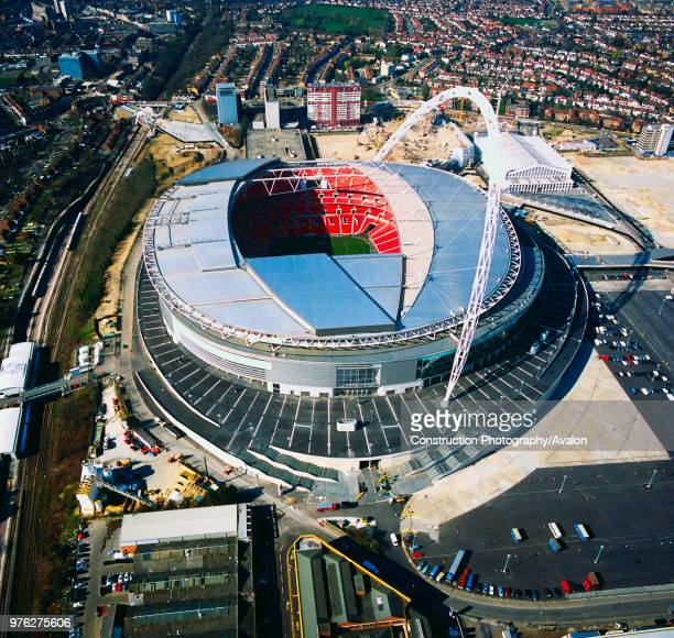Wembley Stadium London UK aerial view