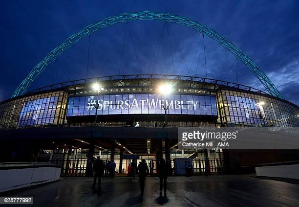 Wembley stadium with Tottenham Hotspur signage before the UEFA Champions League match between Tottenham Hotspur FC and PFC CSKA Moskva at Wembley...