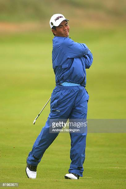 Wen Chong Liang of China hits his approach shot on the 1st hole during the First Round of the 137th Open Championship on July 17 2008 at Royal...