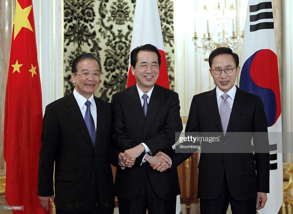 Japan-China-Skorea Summit : ニュース写真