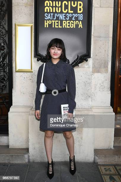 Wen Qi attends Miu Miu 2019 Cruise Collection Show at Hotel Regina on June 30 2018 in Paris France