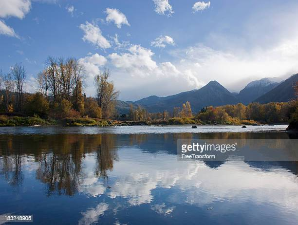 wenatchee river at leavenworth - leavenworth washington stock photos and pictures