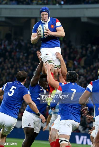 Wenceslas Lauret of France during the international friendly rugby match between France and Argentina at Stade Pierre Mauroy on November 17 2018 in...