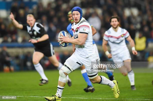 Wenceslas Lauret of France during the NatWest Six Nations match between France and Italy at Stade Velodrome on February 23 2018 in Marseille France
