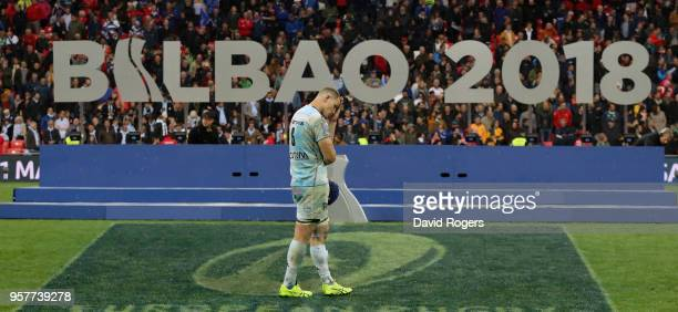Wenceslas Lauret of Racing 92 looks dejected after their defeat during the European Rugby Champions Cup Final match between Leinster Rugby and Racing...