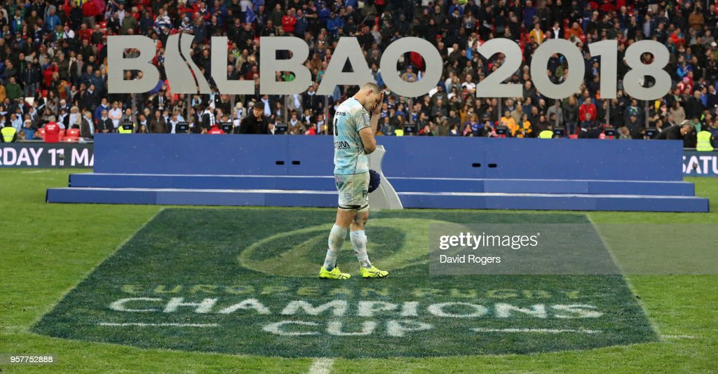 Wenceslas Lauret of Racing 92 looks dejected after their defeat during the European Rugby Champions Cup Final match between Leinster Rugby and Racing 92 at San Mames Stadium on May 12, 2018 in Bilbao, Spain.