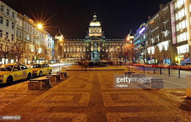 Wenceslas square in Prague.