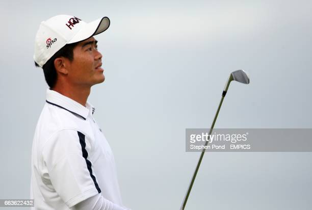 WenChong Liang in action during the first day of the Open Championship at Turnberry Golf Club