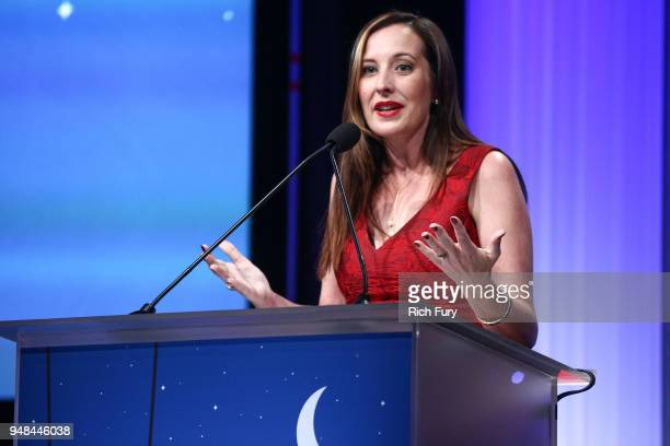 Wende NicholsJulien CEO CASA Los Angeles speaks onstage during the CASA Of Los Angeles' 2018 Evening To Foster Dreams Galaat The Beverly Hilton Hotel...