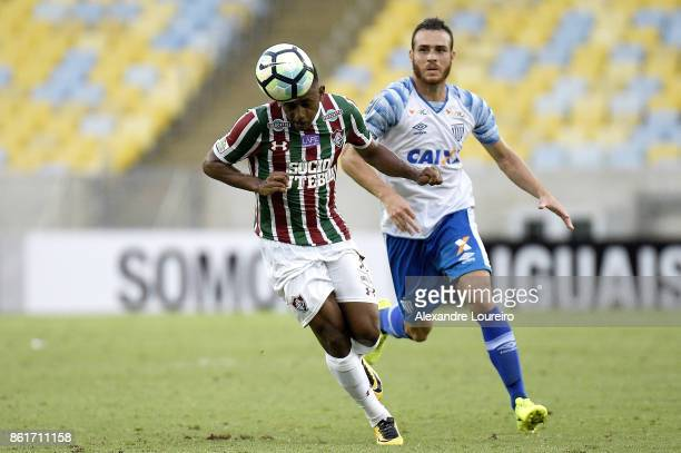Wendel of Fluminense battles for the ball with Pedro Castro of Avai during the match between Fluminense and Avai as part of Brasileirao Series A 2017...