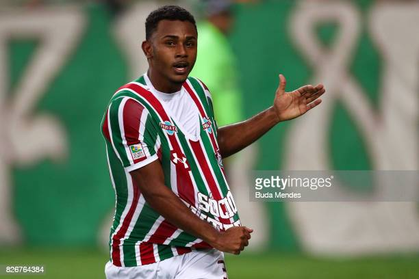 Wendel of Fluminense celebrates a scored goal during a match between Fluminense and Atletico GO as part of Brasileirao Series A 2017 at Maracana...